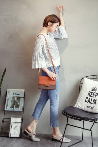 RAW-CUT ANKLE JEANS