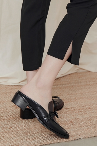 ALMOND-TOE SLIP-ONS