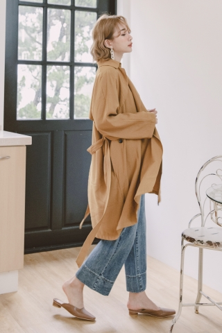 MERCI SLOUCH WITH BELT TRENCH COAT
