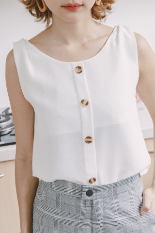 DARLING CAMISOLE TOP IN WHITE