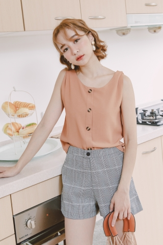 DARLING CAMISOLE TOP IN BROWN