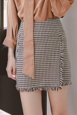 HOUNDSTOOTH BAKER SKIRT