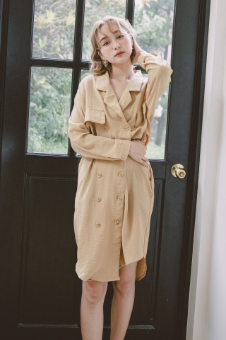 BAKED TRENCH COAT BELTED  DRESS