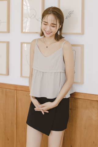 VELY CREPE CAMISOLE TOP IN BEIGE