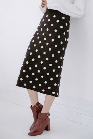 EVERY ' DAY POLKA DOT SKIRT