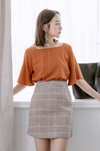 MIINE-MEE BASIC FLARE TOP IN PUMPKIN