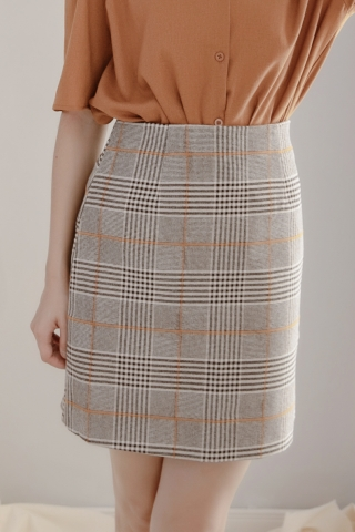 LES CHECK SKIRT
