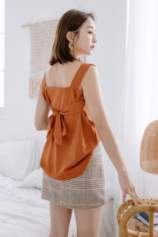 MERI DE BASIC KNOT TOP IN BROWN