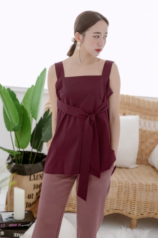 MERI DE BASIC KNOT TOP IN VIOLET