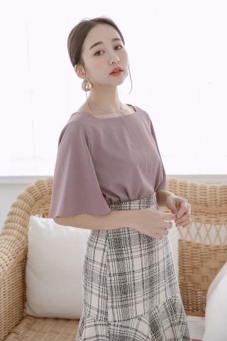 MIINE-MEE BASIC FLARE TOP IN YAM