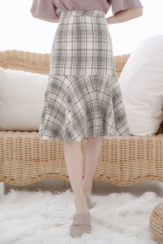 MINE-MEE FISH TAIL CHECK SKIRT