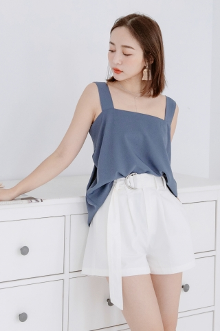 MERI DE BASIC KNOT TOP IN BLUE