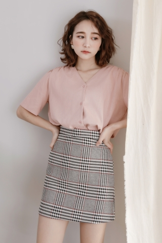 (BACKORDER) DAILY BASIC BUTTON DOWN BLOUSE IN PINK