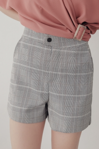 LUVFEE TAILORED CHECK SHORTS