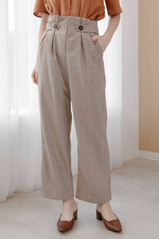 JO CHECK DOUBLE POCKETS TROUSERS