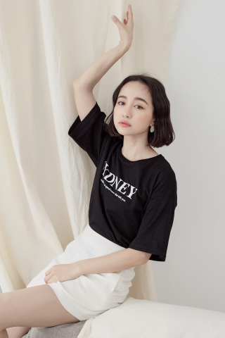 SYDNEY ' UNISEX SLOGAN T-SHIRT IN BLACK