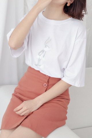 BUGS BUNNY BASIC TEE IN WHITE
