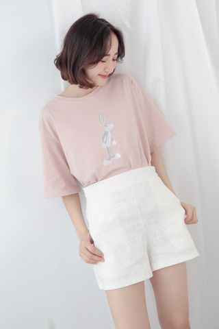 BUGS BUNNY BASIC TEE IN BABY PINK