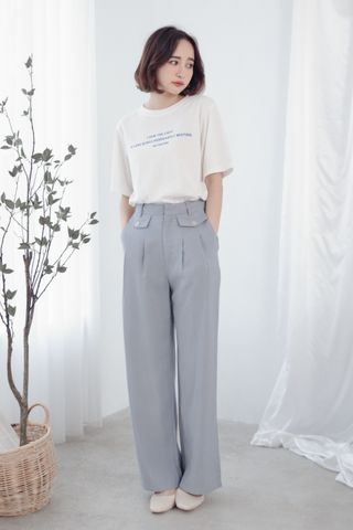A LITTLE DAY WIDE-LEG PANTS IN BLUE