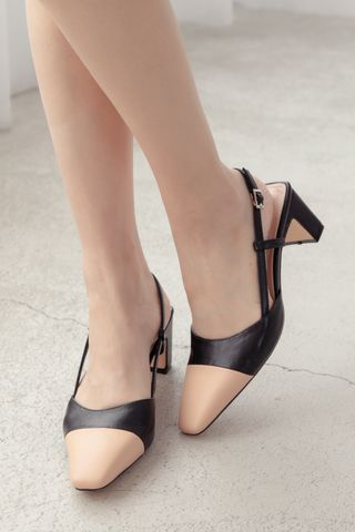 EVERYDAY COLORBLOCK HEELS IN BLACK