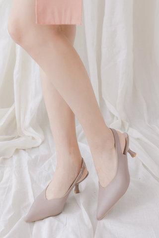 BETTER DAY POINTED TOE SLINGBACK HEELS IN DUSTY BLUSH