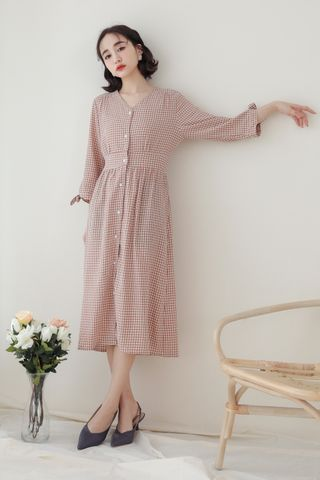 SOMEDAYS KOREA CHECKED DRESS