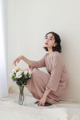 SOMEDAYS KOREA CHECKED DRESS