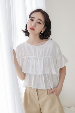 SOMEDAYS KOREA LAYERS TOP IN WHITE
