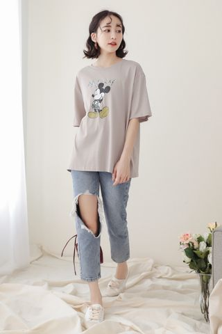 SOMEDAYS MICKEY TEE IN GREY