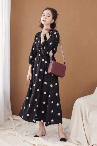 PEANUT DAY POLKA DOT 170CM DRESS