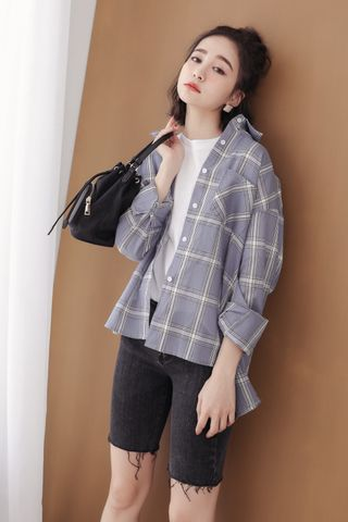 (BACKORDER) SOMEDAYS KOREA CHECKED SHIRT