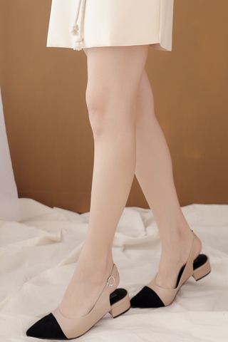(BACKORDER) CLASSIC POINTED TOE HEELS IN KHAKI