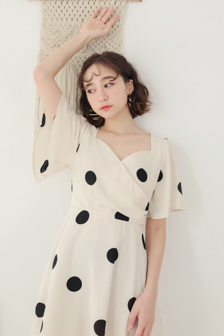 LEMON 365 DAYS A' MADE DOT DRESS IN CREAMY