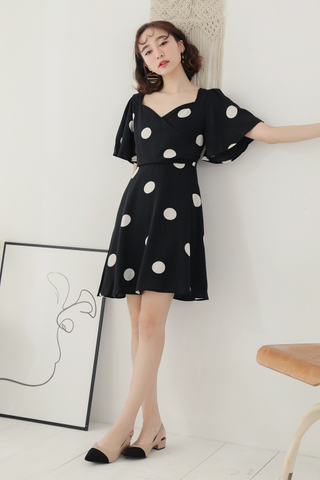 (BACKORDER) LEMON 365 DAYS A' MADE DOT DRESS IN BOBA
