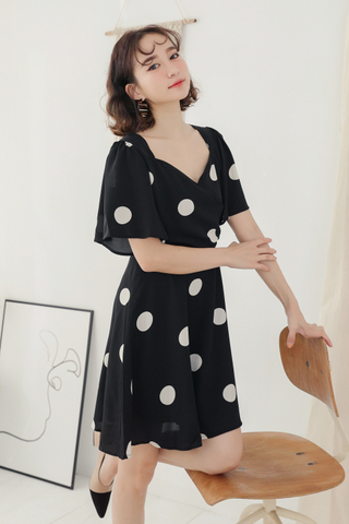 LEMON 365 DAYS A' MADE DOT DRESS IN BOBA