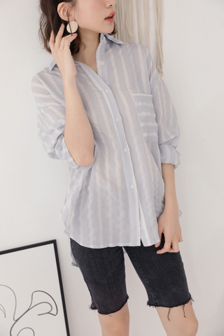 OPS A DAY STRIPY SHIRT IN BLUE