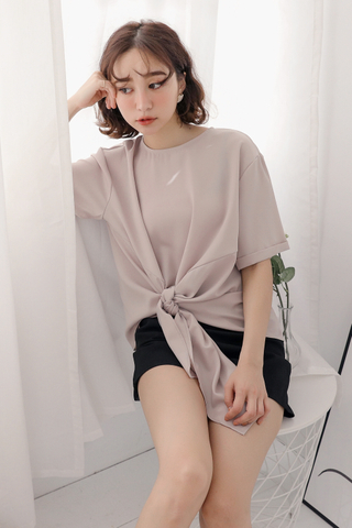 OPS A DAY KOREA MADE KNOT BASIC TOP IN NUDE