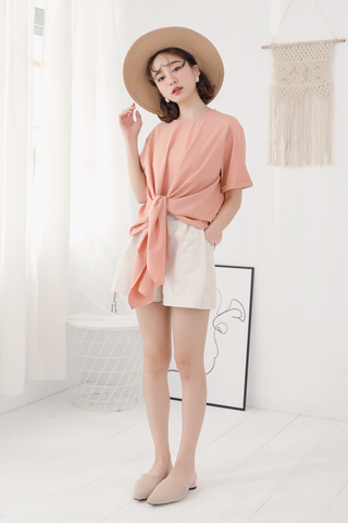 OPS A DAY KOREA MADE KNOT BASIC TOP IN BABY CAROL