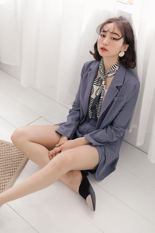 (BACKORDER) OPS A DAY KOREA MADE BLAZER IN DUSTY BLUE