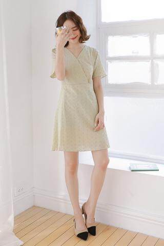 SUNSHINE DAY -5KG  EYELET DRESS IN AVOCADO