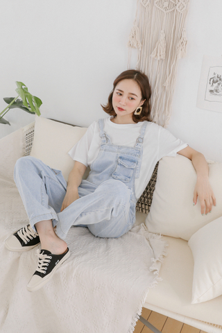 LEMON 365 DAYS WASHED DENIM DUNGAREES
