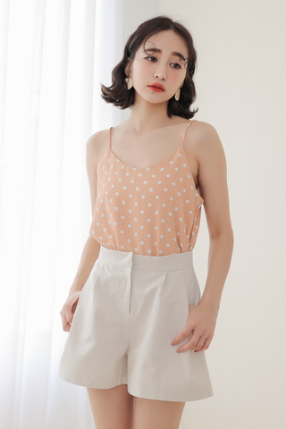 KISSES DAY POLKA DOT CAMI IN BABY CORAL