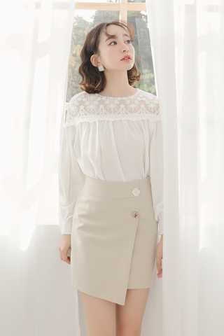 BUTTER DAY LACE PANEL TOP IN WHITE