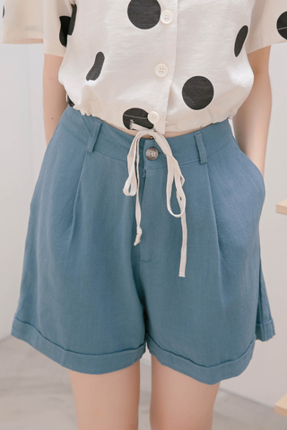 JU KOREA BASIC SHORTS IN BLUE