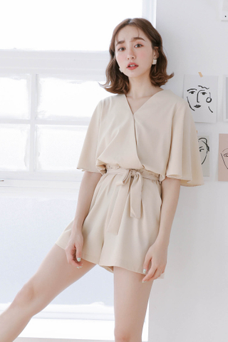 ALL DAY KOREA ROMPER IN BUTTER