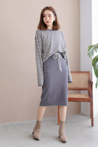 (BACKORDER) BAKED 170CM STRIPY SET IN GREY