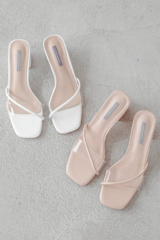 BAKE KOREA TRANSPARENT HEEL IN PEACHY NUDE