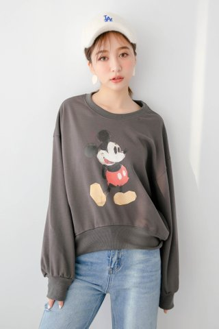 DEE KOREA MICKEY PULLOVER IN GREY