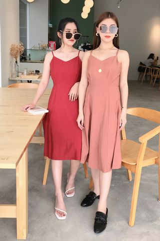 22DAYS MIDI DRESS IN DUSTY CORAL
