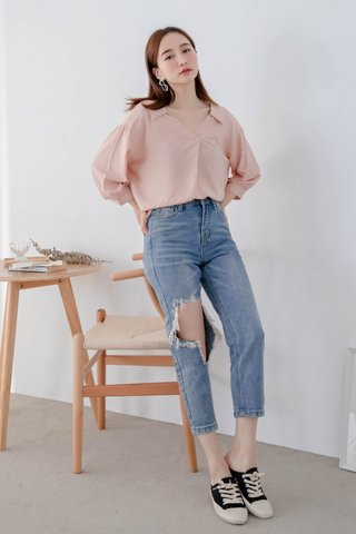 WITH 365 DAYS BASIC SHIRT IN NUDE PINK